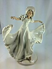 "Art Deco  Large Dresden ""The Dancer"" by  Schau Bach Kunst Porcelain Figurine"