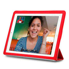 Red Case With Smart Cover For Apple-iPad 2 / 3 / 4 Retina Display