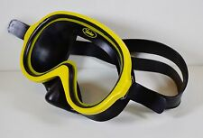 Vintage Kenrec 7299 Diving Scuba Snorkeling Mask, Made in Italy (Yellow & Black)