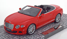 MINICHAMPS 2013 Bentley Continental GT Speed Cabrio Red LE 999pcs 1:18 In Stock!