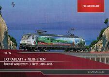 FLEISCHMANN/ROCO Broschüre Prospekt Katalog EXTRABLATT Neuheiten 2015 H0/N NEU