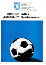DDR-Liga 81/82 BSG Motor Fritz Heckert Karl-Marx-Stadt-construcción krumhermersdorf