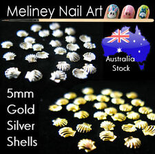 5mm Metal Shell Decals Gold & Silver for Nail Art craft scrapbookings decor stud