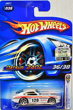 HOT WHEELS 2006 FIRST EDITIONS DATSUN 240Z #036 WHITE FACTORY SEALED