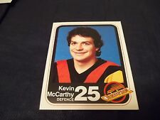 1982-83 Vancouver Canucks Team Issue #25 Kevin McCarthy