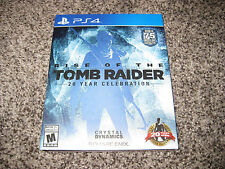 RISE OF THE TOMB RAIDER 20 YEAR CELEBRATION PS4 + BOOK * OPENED BUT NOT PLAYED