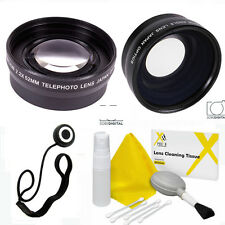 HD WIDE ANGLE  LENS + ZOOM LENS + CLEANING KIT FOR SONY ALPHA A57 A37 A68 A58