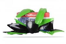 Polisport Plastic Kit Set Green Original Complete Kawasaki KX250F 2013-2016