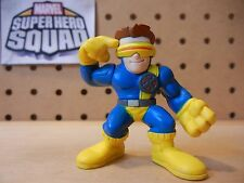 Marvel Super Hero Squad CYCLOPS Blue / Yellow X-Men Costume Hair Showing