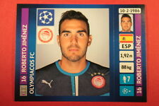 PANINI CHAMPIONS LEAGUE 2013/14 N. 189 JIMENEZ OLYMPIACOS BLACK BACK MINT!
