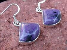 CHAORITE & INDIAN 925 SILVER EARRINGS SILVERANDSOUL HANDCRAFTED JEWELLERY