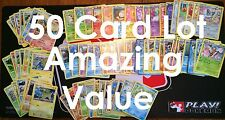 Pokemon TCG ~ 50 Card Lot ~ NO TRAINERS/ENERGY ~ FREE SHIPPING! NO DUPLICATES!!