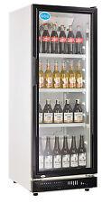 AG Gastro Kühlschrank Flaschenkühlschrank Glastür 230 Liter 530x635x1442 schwarz