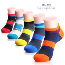 1 Pairs Men's Socks Cotton Low Cut Multi-Color Ankle Casual Socks Color Random