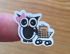 Planner stickers  Owl, Shopping, fits Erin Condren & Happy planners, calendars