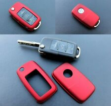 VW Remote Flip Key Cover Case Skin Shell Cap Fob Protection Metallic Red -2009