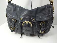 COACH 12654 BLACK LEATHER W/BRASS LEGACY GARCIA FLAP HOBO BAG HANDBAG EXCELLENT