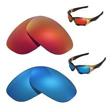 New Walleva Polarized Fire Red+Ice Blue Replacement Lenses 4 Oakley PIT BOSS II