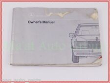 1991 Mercedes Benz 300 E 2.6 CE 4 Matic Owners Manual Booklet OEM