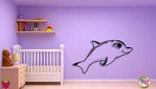 Wall Sticker Baby Dolphin With Lashes For Kids Nursery Room  z1449