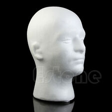 Male Styrofoam Manikin Mannequin Foam Head Model Glasses Hat Wig Display Stand