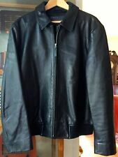 Men's Banana Republic, Black Leather Motorcycle Jacket, Size - Large