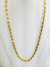 "EJCM35133 - Solid Heavy 14K Yellow Gold 10mm D/C Rope Chain 30"" - 173 grams"
