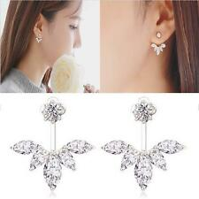 Fashion Jewelry Women Lady Elegant Crystal Rhinestone Ear Stud Earring Silver EH