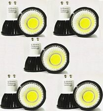 10X GU10 6W DIMMABLE CREE COB LED spot Light Bulb Downlight lamps Black COOL WH