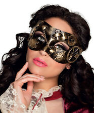 MENS LADIES STEAMPUNK MASK DELUXE VENETIAN MASQUERADE BALL VENICE EYEMASK NEW