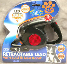 Pet Shop Retractable Dog Lead with Built in LED Torch 15 BNIP Factory Sealed