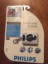 Phillips Simply Snap & Share Keychain Camera Video Webcam New Sealed Complete