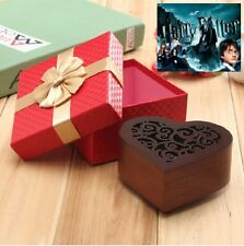 Wooden Heart Shape Carving Music Box : Harry Potter Theme Soundtrack