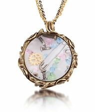 Disney Couture Pixie Hollow Tinkerbell Lost Things Glass Case Necklace