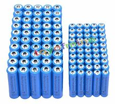 50x AA 3000mAh + 50x AAA 1800mAh 1.2V NI-MH Rechargeable Battery 2A 3A Blue Cell