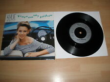"KYLIE MINOGUE 7"" VINYL CARD P/S TEARS ON MY PILLOW PWL 47 EX"