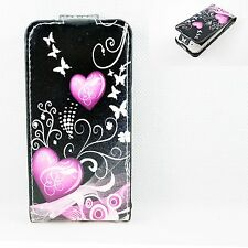 Snap On Leather Skin Flip Hard Cell Phone Cover Case For Apple Iphone 4 4G 4S