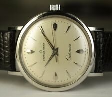 1956 Eterna Matic 32mm Centenaire SS 1428U Vintage Automatic Steel Swiss Watch