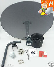 Freesat / Sky 80cm zone 2 satellite dish & quad lnb + 20m twin black install kit