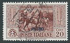 1932 EGEO PATMO USATO GARIBALDI 20 CENT - U27-4