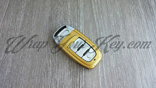 Gold Gloss Key Wrap Cover Audi SMART Remote A1 A3 A4 A5 A6 A8 TT Q3 5 Q7