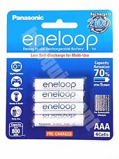 Panasonic eneloop HR-4UTGB Rechargeable AAA Pre-Charged 1.2v NiMH Battery x4