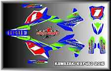 2016 KAWASAKI KX450 KX 450F CUSTOM Faded GRAPHIC KITS DECAL blue
