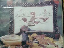 "Woodland Ducks PILLOW KIT to cut assemble and sew  NEW in package 15""x 19"""