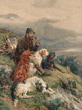 GORDON SETTER ENGLISH SETTER IRISH SETTER, POINTER & MAN DOG GREETINGS NOTE CARD