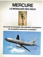 "Publicité Advertising 1972 L'Avion ""Mercure"" par Marcel Dassault"
