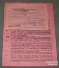 1947 Quebec Alouettes Clifton Seaver Signed Contract