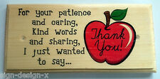 Thank You Teacher Plaque / Sign / Gift - School Classroom Nursery Term 208