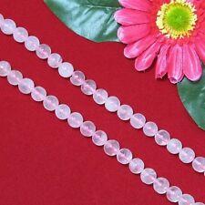 2 Strang Rosenquarz 10mm Kugelform Lose Perlen