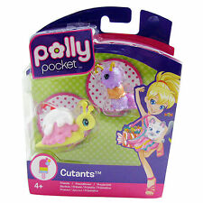 Polly Pocket Girls Toy Figures Cutants Set Snailana Split Icecream Caterpillar
